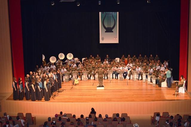 Encontro de bandas de música comemora aniversário da Brigada Príncipe da Beira em Porto Velho