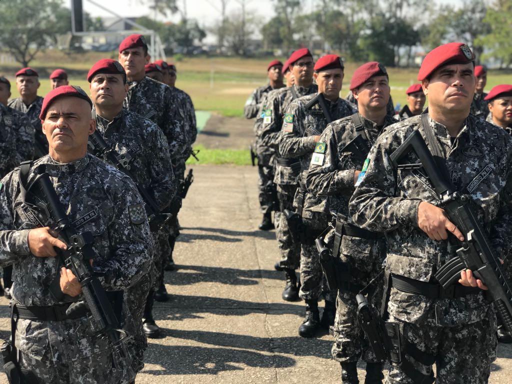 Recepção à Força Nacional de Segurança 1º Grupo de Artilharia Antiaérea