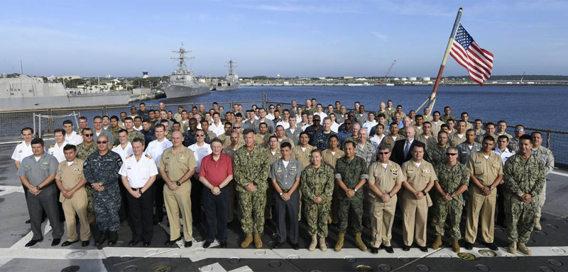 Marinha do Brasil encerra participação na PANAMAX 2018 nos Estados Unidos