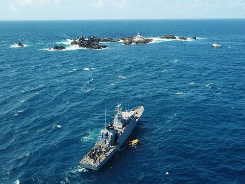 """Navio Patrulha """"Macau"""" realiza comissão ao Arquipélago de São Pedro e São Paulo"""
