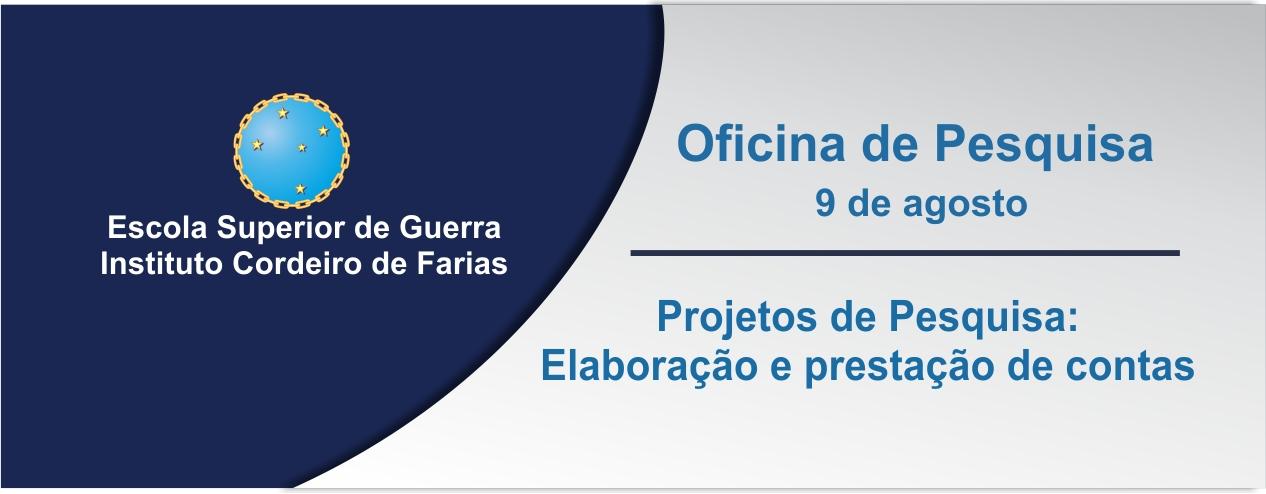 """Oficina de pesquisa sobre: """"Projetos de Pesquisa: Elaboração e prestação de contas"""""""