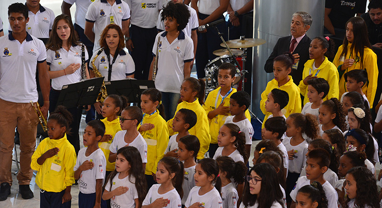 Participantes do Profesp fazem apresentação no Palácio do Planalto