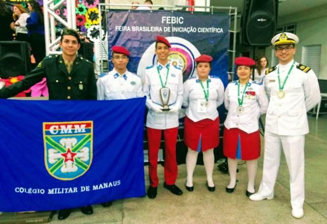 Alunos do Colégio Militar de Manaus conquistam 1º lugar na III Feira Brasileira de Iniciação Científica
