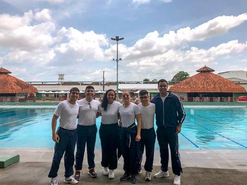 Alunos do Centro de Instrução Almirante Braz de Aguiar participam do Circuito Paraense Master de Natação