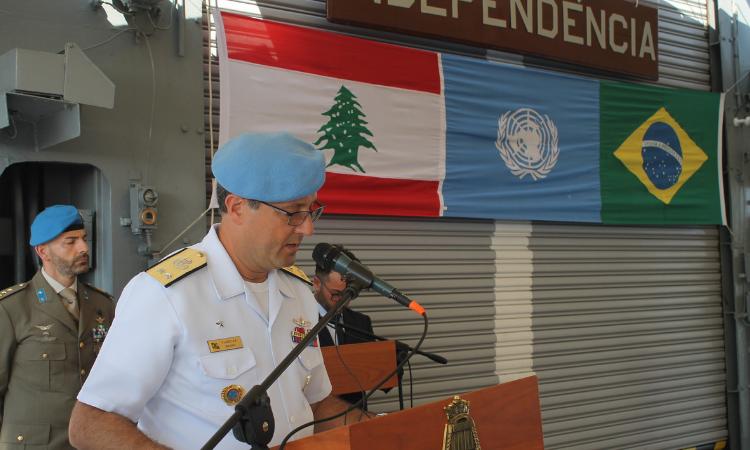 Brasil tem novo navio capitânia na Força Interina das Nações Unidas no Líbano