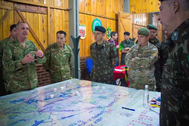 Exercício de Simulação de Combate prepara militares do Brasil e da Argentina para a Operação Guarani 2019