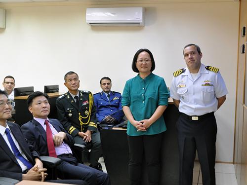 Comando do Controle Naval do Tráfego Marítimo recebe visita da Delegação da Universidade Nacional de Defesa da Coreia do Sul