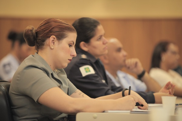 Curso de Comunicação Social da FAB reúne militares em Brasília (DF)