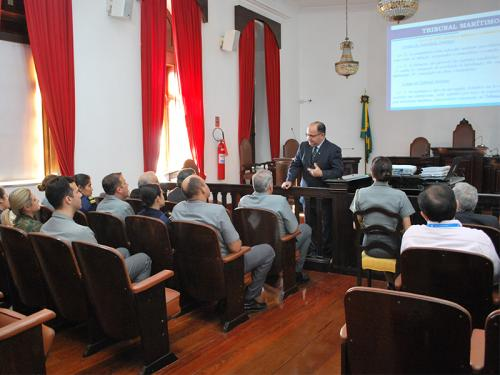 Presidente do Tribunal Marítimo recebe Diretor de Portos e Costas e Superintendentes da DPC