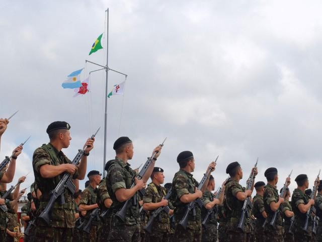 Solenidade em Santa Maria marca início do exercício combinado entre os Exércitos do Brasil e da Argentina