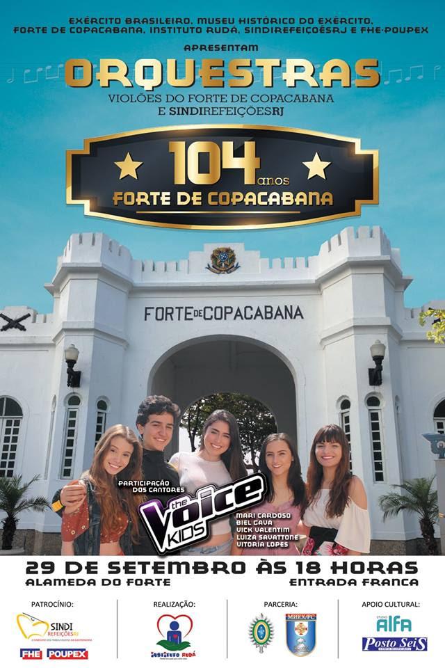 Convite 104º aniversário do Forte de Copacabana