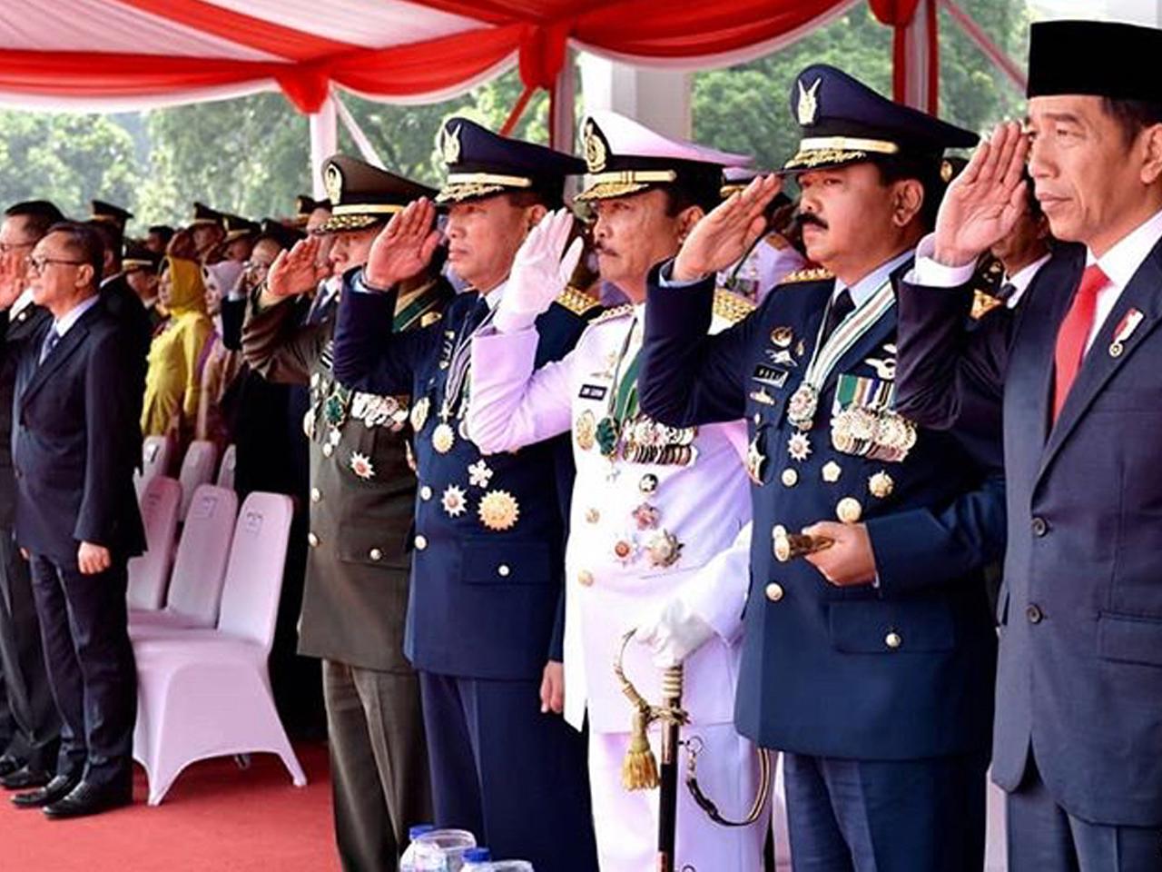 73º Aniversário das Forças Armadas da Indonésia Aditância do Exército na República da Indonésia