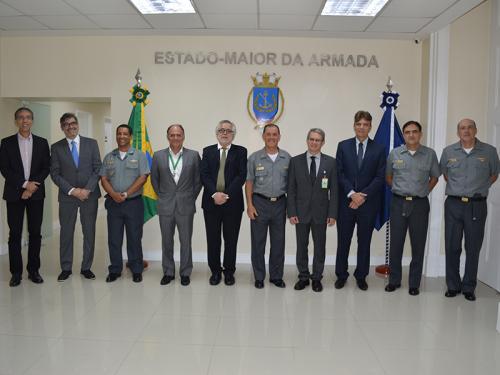 Chefe do Estado-Maior da Armada recebe representantes da Agencia Nacional do Petróleo e da Petrobras