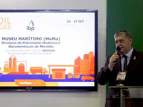 """DPHDM e Departamento Cultural do Abrigo do Marinheiro apresentam projeto do Museu Marítimo na """"Rio Oil & Gas 2018"""""""