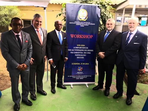 Diretoria de Hidrografia e Navegação visita Instituto de Hidrografia e de Sinalização Marítima de Angola