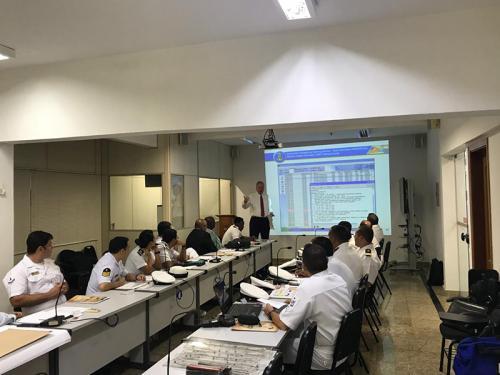 Diretoria de Hidrografia e Navegação sedia treinamento sobre Informações de Segurança Marítima