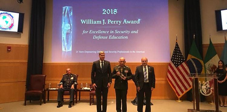 Discurso de Entrega do Prêmio Institucional William J. Perry de 2018