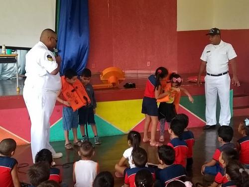 Capitania dos Portos do Amapá leva Projeto Navegação Segura para 395 crianças da rede pública