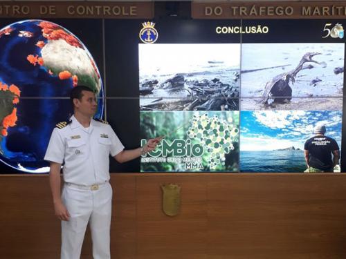 Comando do Controle Naval do Tráfego Marítimo recebe visita de Comitiva do Instituto Chico Mendes de Conservação da Biodiversidade