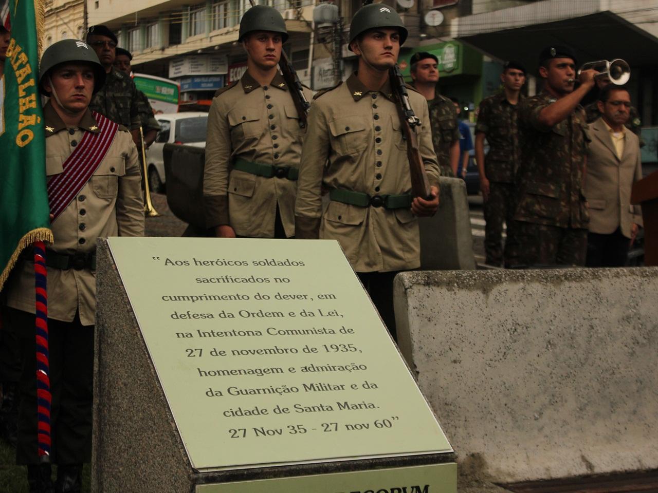 Cerimônia em Santa Maria, Rio Grande do Sul, exalta memória dos heróis que tombaram na Intentona Comunista
