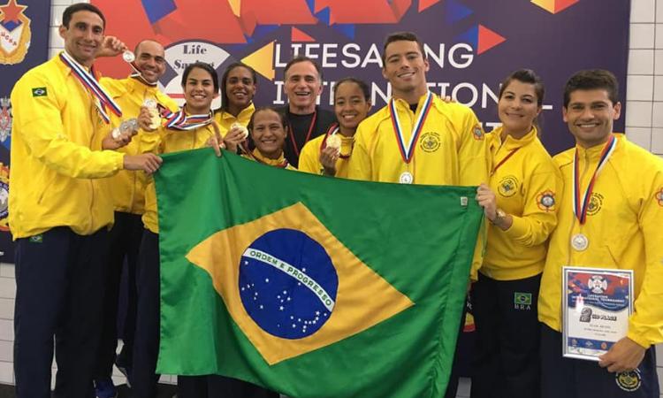 Brasil é campeão do Torneio Internacional de Salvamento Aquático