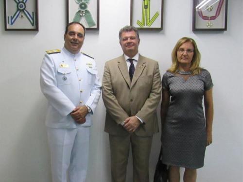 Comando do 8º Distrito Naval recebe visita do Presidente da Soamar-Brasil
