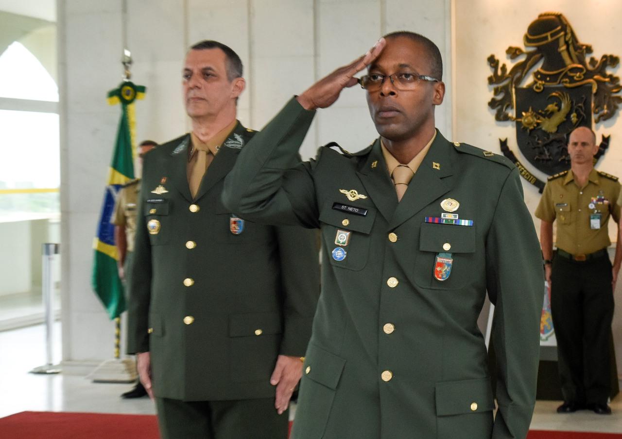 Cerimônia de assunção do 1º Adjunto de Comando da história do Centro de Comunicação Social do Exército
