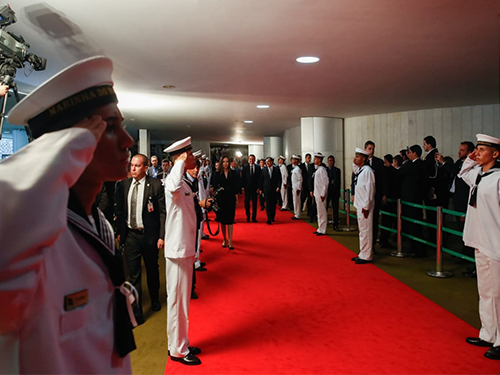 Militares do Centro de Instrução e Adestramento de Brasília participam de solenidade da Posse Presidencial