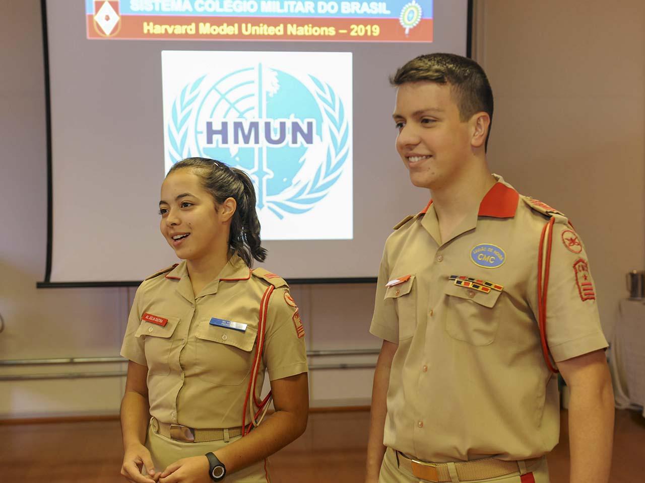 Nos Estados Unidos, alunos de Colégios Militares do Brasil participam de Simulação das Nações Unidas