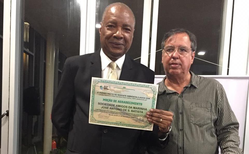 SOAMAR-RIO recebe Moção do Projeto Pacto de Resgate Ambiental Lagoa Viva