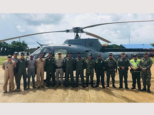 Comando do 9º Distrito Naval realiza trabalho de busca e salvamento em apoio à Armada Colombiana