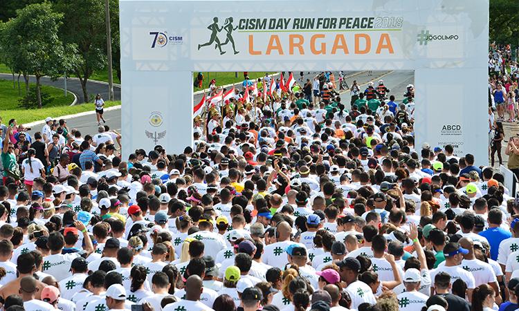 Corrida para a Paz reúne mais de 7 mil pessoas em Brasília e no Rio de Janeiro