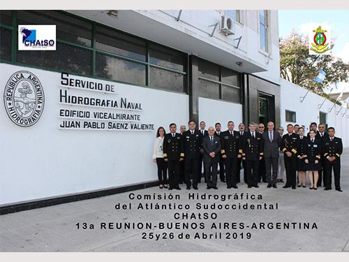 Diretoria de Hidrografia e Navegação participa da 13ª Reunião da Comissão Hidrográfica do Atlântico Sudoeste