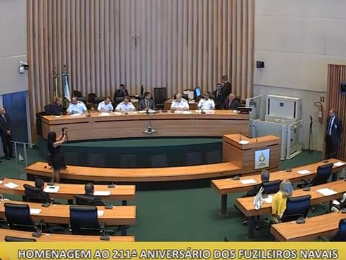 Corpo de Fuzileiros Navais é homenageado em Sessão Solene na Câmara Legislativa do Distrito Federal
