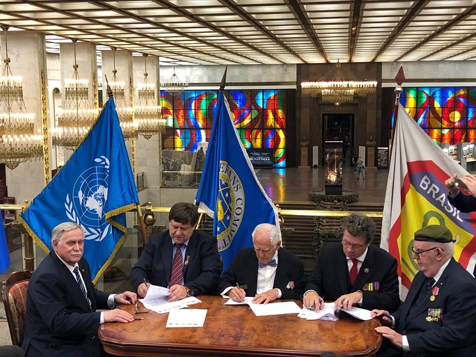 Brasil e Rússia assinam Protocolo de Intenções entre as organizações de veteranos