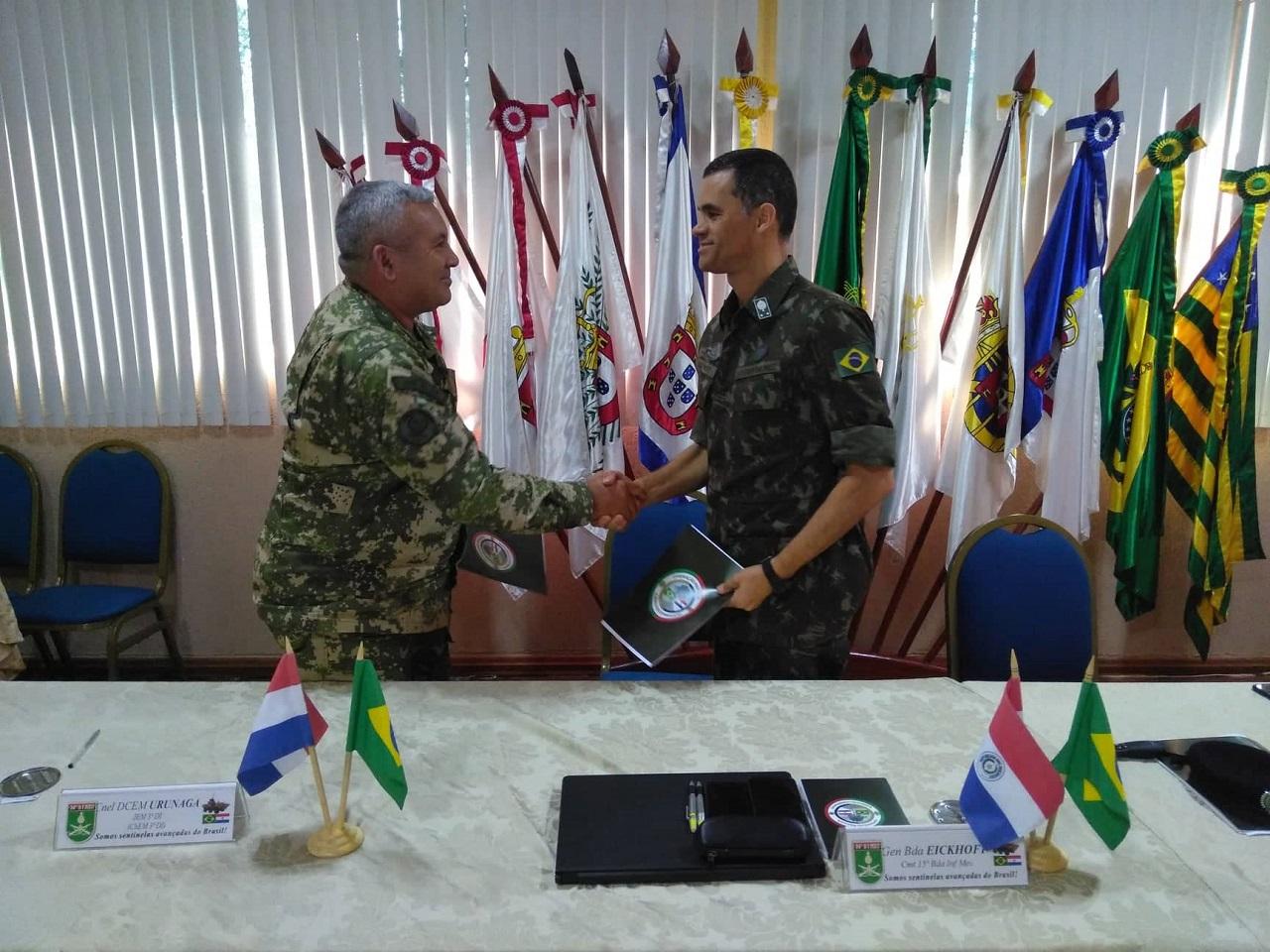 Militares do Brasil e do Paraguai realizam Reunião de Coordenação da Operação Paraná II