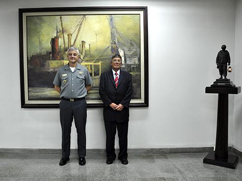 Presidente da Soamar Brasil em Portugal visita a Escola de Guerra Naval