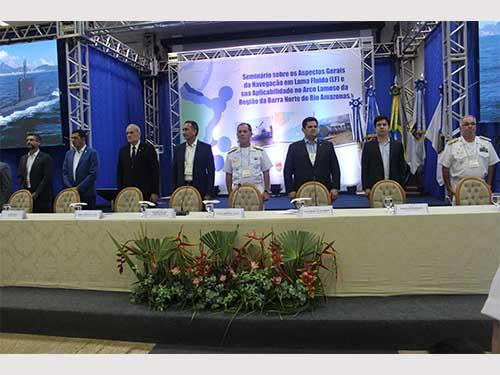 Marinha realiza seminário nacional que debate navegação em lama fluida, em Macapá-AP