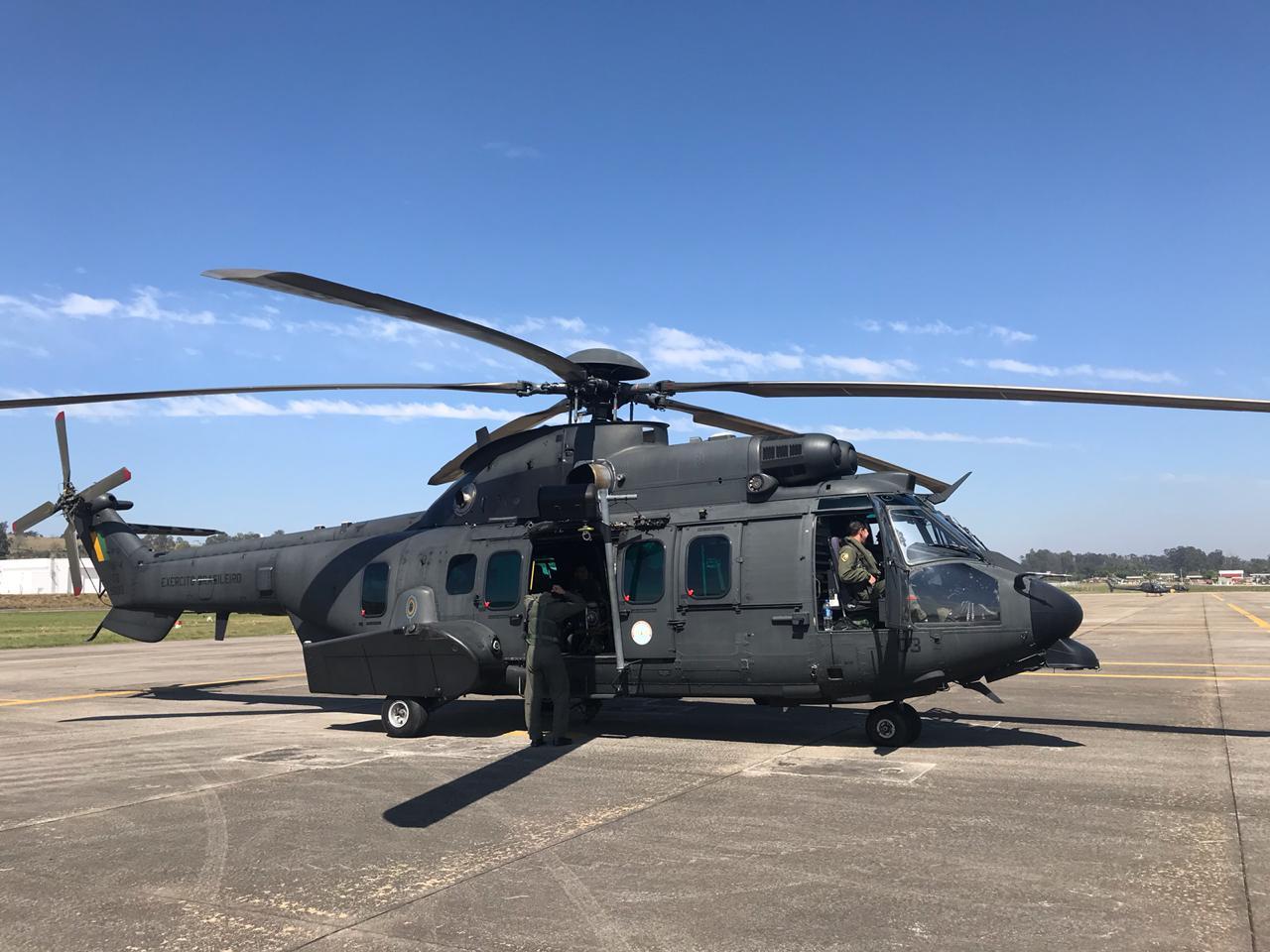 Comando de Aviação do Exército decola para o combate aos focos de incêndio na Amazônia
