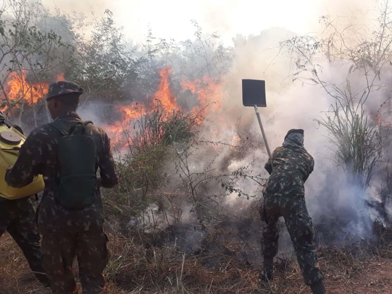 Militares do Exército Brasileiro acabam com focos de incêndio em Altamira, Itaituba e regiões adjacentes