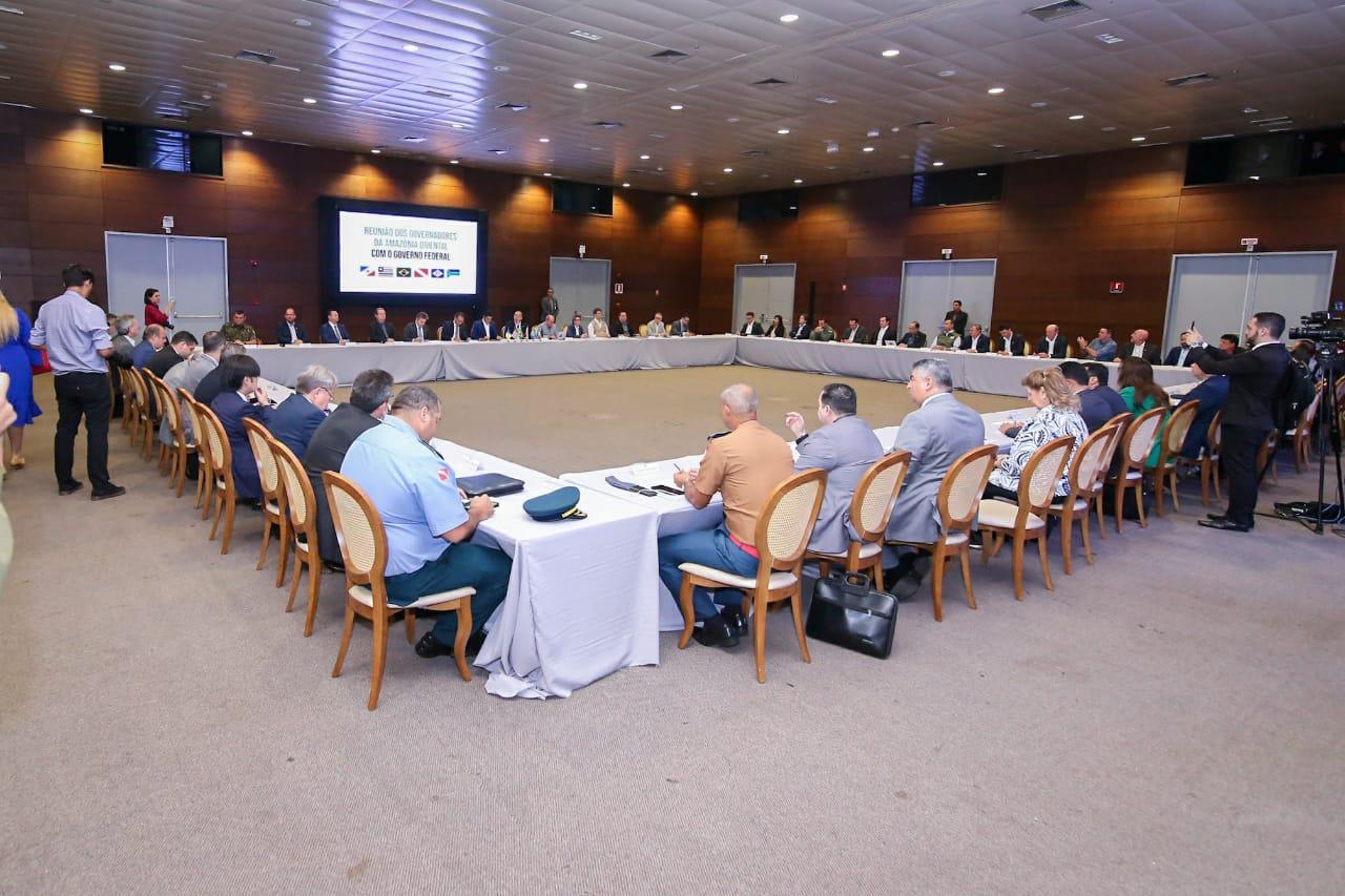Comitiva interministerial debate preservação com governadores da Amazônia Oriental