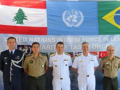 """Corveta """"Barroso"""" é o novo Navio Capitânia da Força-Tarefa Marítima da UNIFIL"""