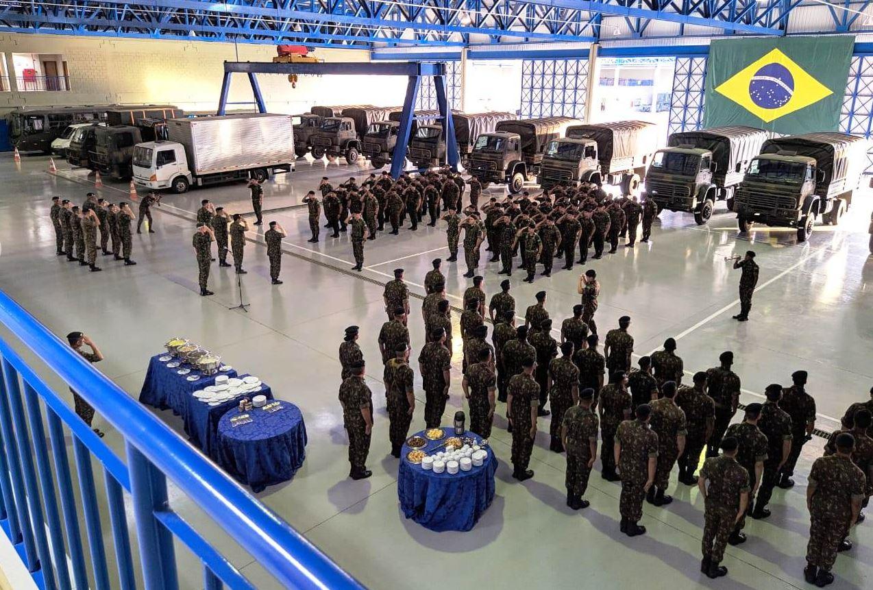 Forte Santa Bárbara recebe último comboio de viaturas e material do Comando de Artilharia do Exército