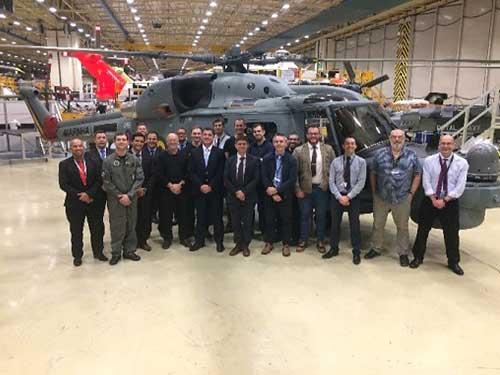 3° Lynx modernizado da Marinha do Brasil realiza teste de aceitação de fábrica no Reino Unido