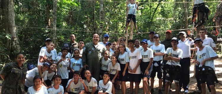 Alunos do PROFESP vivenciam dia de sobrevivência na selva