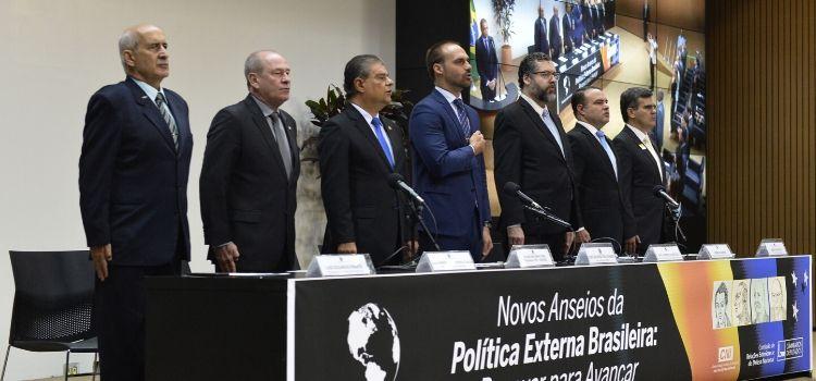 Ministro da Defesa participa da abertura de seminário de política externa na Câmara dos Deputados