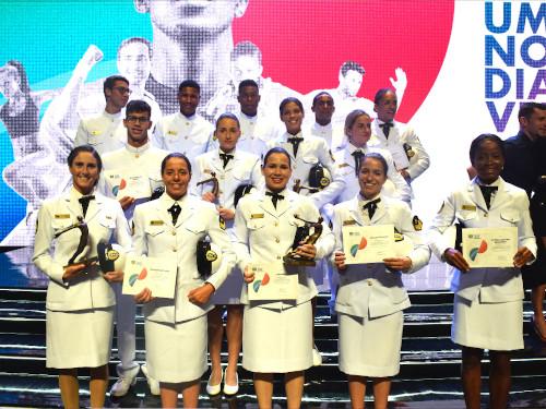Atletas da Marinha do Brasil são destaques no 21o Prêmio Brasil Olímpico