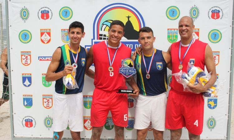 Dupla do Comando Militar do Planalto é a vencedora do Campeonato do Exército de Vôlei de Praia 2019