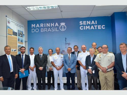 Marinha inaugura o Escritório Técnico de Ciência e Tecnologia, no Senai-Cimatec
