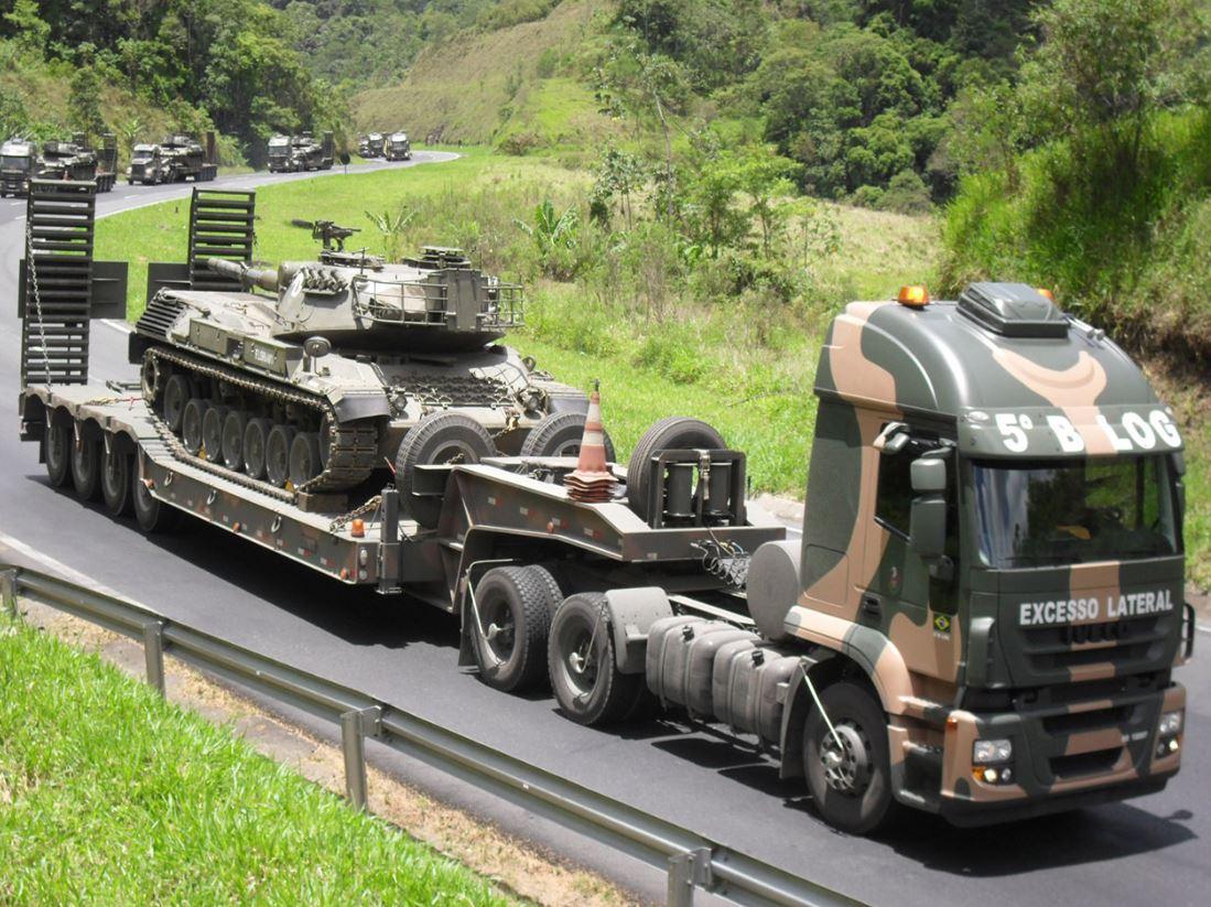 5º Batalhão Logístico percorreu mais de 400 mil quilômetros transportando viaturas blindadas em 2019